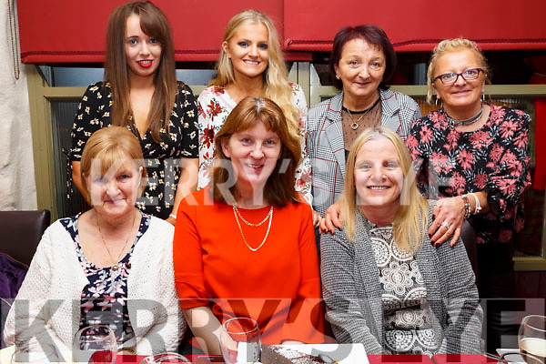 Enjoying the Womens Little Christmas in the Cassidys Restaurant on Saturday night, seated l-r, Eileen McCord, Caroline Coffey and Helena O&rsquo;Sullivan.<br /> Back l-r, Megan O&rsquo;Sullivan, Shauna O&rsquo;Sullivan, Joan Fitzell and Theresa Cullen.