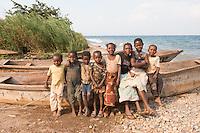 Children at Lake Tanganyika