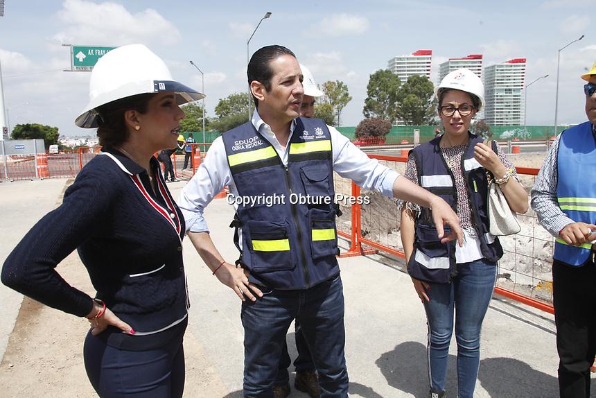 Querétaro, Qro. 07 de agosto de 2018.- El gobernador del estado supervisó el avance de obra de modernización de la prolongación del bulevard Bernardo Quintana.