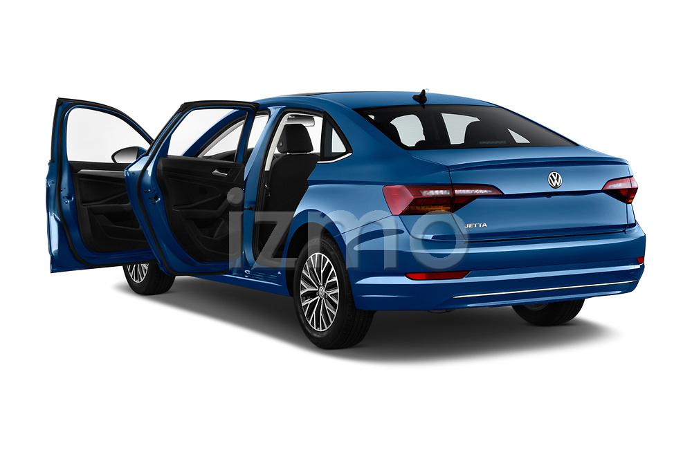 Car images close up view of a 2019 Volkswagen Jetta SEL 4 Door Sedan doors