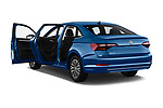 Car images close up view of a 2019 Volkswagen Jetta SEL 4 Door Sedan doors