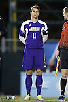 20 November 2014: James Madison's Josh Grant (ENG). The University of North Carolina Tar Heels hosted the James Madison University Dukes at Fetzer Field in Chapel Hill, NC in a 2014 NCAA Division I Men's Soccer Tournament First Round match. UNC won the game 6-0.