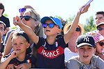 Young fans at sign on before the start of Stage 5 of the 2018 Tour de France running 204.5km from Lorient to Quimper, France. 11th July 2018. <br /> Picture: ASO/Alex Broadway | Cyclefile<br /> All photos usage must carry mandatory copyright credit (&copy; Cyclefile | ASO/Alex Broadway)