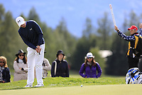 Matthew Fitzpatrick (ENG) putts on the 17th green during Sunday's Final Round of the 2017 Omega European Masters held at Golf Club Crans-Sur-Sierre, Crans Montana, Switzerland. 10th September 2017.<br /> Picture: Eoin Clarke | Golffile<br /> <br /> <br /> All photos usage must carry mandatory copyright credit (&copy; Golffile | Eoin Clarke)