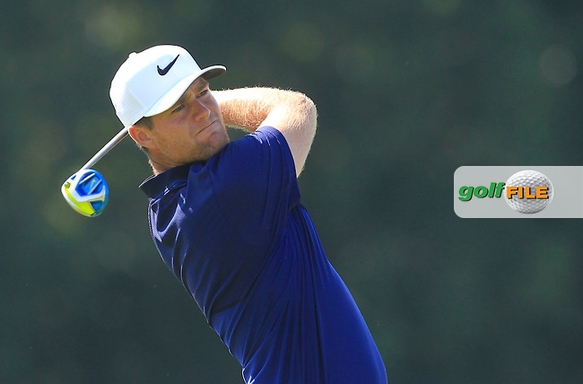 Lucas Bjerregaard (DEN) on the 5th tee during Round 1 of the 2016 KLM Open at the Dutch Golf Club at Spijk in The Netherlands on Thursday 08/09/16.<br /> Picture: Thos Caffrey | Golffile