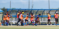Bradenton, FL - Sunday, June 12, 2018: Haiti, goal celebration prior to a U-17 Women's Championship 3rd place match between Canada and Haiti at IMG Academy. Canada defeated Haiti 2-1.