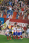 Atletico de Madrid's players celebrate goal during Supercup of Spain 2nd match.August 19,2014. (ALTERPHOTOS/Acero)