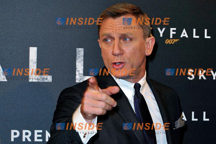 Daniel Craig.Parigi 24/10/2012 Cinema cinema UGC Normandie.Anteprima del film Skyfall.Foto Gerard Roussel / Panoramic / Insidefoto.ITALY ONLY