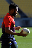 Lukhanyo Am during the Rugby Championship South Africa Springboks captain's run training session at Westpac Stadium in Wellington, New Zealand on Friday, 26 July 2019. Photo: Dave Lintott / lintottphoto.co.nz