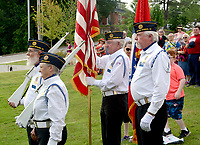 Janelle Jessen/Herald-Leader<br /> Members of the American Legion Post 29 honor guard posted the colors during the ceremony.