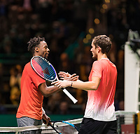 Rotterdam, The Netherlands, 16 Februari 2019, ABNAMRO World Tennis Tournament, Ahoy, Semis, Gael Monfils (FRA) vs Daniil Medvedev,<br /> Photo: www.tennisimages.com/Henk Koster