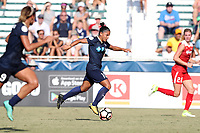 Cary, North Carolina  - Saturday August 19, 2017: Debinha during a regular season National Women's Soccer League (NWSL) match between the North Carolina Courage and the Washington Spirit at Sahlen's Stadium at WakeMed Soccer Park. North Carolina won the game 2-0.