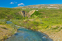 Landscape along a river, From the Haines Road in NW British COlumbia, British Columbia, Canada