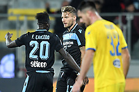Felipe Caicedo of Lazio celebrates with Ciro Immobile after scoring a goal during the Serie A 2018/2019 football match between Frosinone and Lazio at stadio Benito Stirpe, Frosinone, February 4, 2019 <br />  Foto Andrea Staccioli / Insidefoto