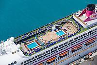 Cruise ship docked at the Bridgetown Port, Barbados