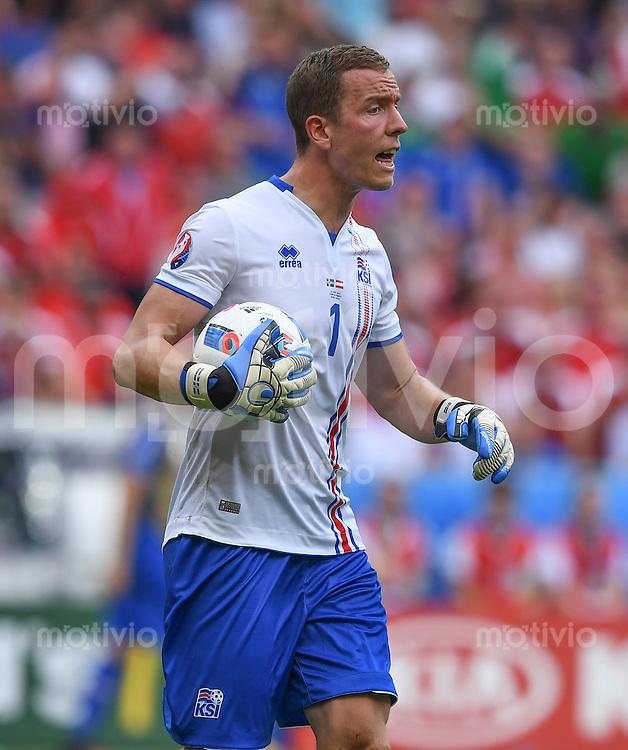FUSSBALL EURO 2016 GRUPPE C IN PARIS Island - Oesterreich             22.06.2016 Torwart Hannes Halldorsson (Island)