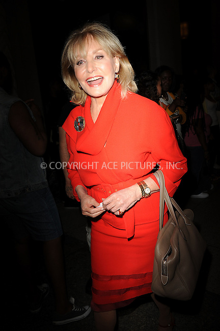 WWW.ACEPIXS.COM . . . . . .September 13, 2011 New York City.....Barbara Walters attends  the Oscar de la renta fashion show on September 13, 2011 in New York City....Please byline: KRISTIN CALLAHAN - ACEPIXS.COM.. . . . . . ..Ace Pictures, Inc: ..tel: (212) 243 8787 or (646) 769 0430..e-mail: info@acepixs.com..web: http://www.acepixs.com .