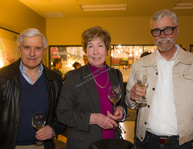 "Dave Hornbeck, Robbie Whipp and Richard Breitling during the Reno Magazine ""Bubbles Tasting"" event at Total Wine in Reno on Friday night, February 9, 2018."