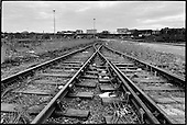 Disused railway tracks in King's Cross Goods Yard, 1989.