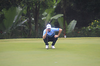 Alex Noren (Europe) on the 6th green during the Saturday Foursomes of the Eurasia Cup at Glenmarie Golf and Country Club on the 13th January 2018.<br /> Picture:  Thos Caffrey / www.golffile.ie