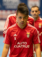 20191012 - HALLE: Benfica's Rafael Henmi is pictured during the warm up at the UEFA Futsal Champions League Main Round match between FP Halle-Gooik (BEL) and SL Benfica (POR) on 12th October 2019 at De Bres Sportcomplex, Halle, Belgium. PHOTO SPORTPIX | SEVIL OKTEM