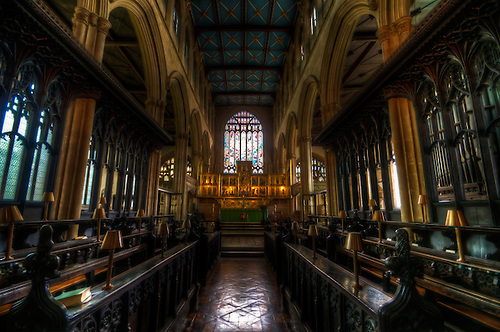 St Mary Magdalen church Newark. Shot as part of my Nottingham church tour.