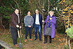 Éanna NÍ Lamhna of the Tree Council of Ireland, with Brendan Fitzsimons (CEO Tree Council of Ireland), Jackie Wherity (Sales Manager Consumer Products) and Colm Conyngham (Marketing and Public Relations Manager), planting a tree at the Bridgestone Balbriggan Service Centre, Unit 13 KVS Business Park, Balbriggan, Co. Dublin, Ireland on Friday 22nd November 2019.<br /> Picture:  Thos Caffrey / Newsfile<br /> <br /> All photo usage must carry mandatory copyright credit (© Newsfile | Thos Caffrey)