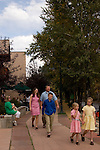 family,fresh,Riverwalk,summer,day Big Thompson River, Estes Park, Colorado, Rocky Mountains, September,(MR)