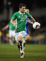 29/03/2016;International Friendly - Republic of Ireland vs Slovakia, Aviva Stadium, Dublin<br /> Ireland&rsquo;s Wes Hoolahan.<br /> Photo Credit: actionshots.ie/Tommy Grealy