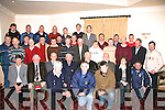 CLUB: Members from Hurling and Football Clubs from around Kerry who were presented with Government Grants cheques by Munster County Board Sean Walsh in Kerins O'Rahillys GAA Club, Tralee on Tuesday night................