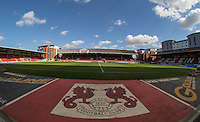 General view of The Matchroom Stadium during the Sky Bet League 2 match between Leyton Orient and Wycombe Wanderers at the Matchroom Stadium, London, England on 19 September 2015. Photo by Andy Rowland.