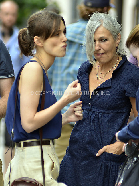 WWW.ACEPIXS.COM....July 19 2012, New York City....Actress Keira Knightley and her mother Sharman Macdonald on the set of the new movie 'Can a Song Save Yor Life' on July 19 2012 in New York City....By Line: Curtis Means/ACE Pictures......ACE Pictures, Inc...tel: 646 769 0430..Email: info@acepixs.com..www.acepixs.com