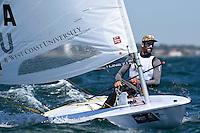 Laser/ Charlie BUCKINGHAM (USA)<br /> ISAF Sailing World Cup Final - Melbourne<br /> St Kilda sailing precinct, Victoria<br /> Port Phillip Bay Wednesday 7 Dec 2016<br /> &copy; Sport the library / Jeff Crow