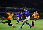 Jamie Vardy of Leicester City shoots during the Premier League match at Molineux, Wolverhampton. Picture date: 14th February 2020. Picture credit should read: Darren Staples/Sportimage