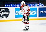 Stockholm 2014-10-14 Ishockey Hockeyallsvenskan AIK - Malm&ouml; Redhawks :  <br /> Malm&ouml; Redhawks Joey Tenute deppar efter att ha blivit utvisad i den andra perioden<br /> (Foto: Kenta J&ouml;nsson) Nyckelord:  AIK Gnaget Hockeyallsvenskan Allsvenskan Hovet Johanneshov Isstadion Malm&ouml; Redhawks depp besviken besvikelse sorg ledsen deppig nedst&auml;md uppgiven sad disappointment disappointed dejected utvisning utvisad utvisas