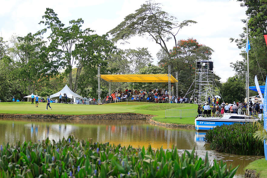 General view 13th green during the third round of the Barclays Kenya Open played at Muthaiga Golf Club, Nairobi, Kenya 22nd - 25th March 2018 (Picture Credit / Phil Inglis) 22/03/2018<br /> <br /> <br /> All photo usage must carry mandatory copyright credit (&copy; Golffile | Phil Inglis)