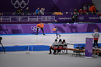OLYMPIC GAMES: PYEONGCHANG: 10-02-2018, Gangneung Oval, Long Track, 3000m Ladies, Wouter olde Heuvel (coach), Ireen Wüst (NED), ©photo Martin de Jong
