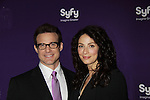 Eddie McClintock & Joanne Kelly - Warehouse 13 at the Syfy Upfront 2012 on April 24, 2012 at the American Museum of Natural History, New York City  (Photo by Sue Coflin/Max Photos)