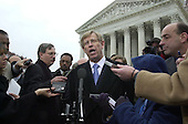 Washington, DC - December 11, 2000 -- Bush attorney Ted Olson speaks to reporters after pleading before the U.S. Supreme Court in the Florida Vote Recount case.<br /> Credit: Ron Sachs / Corbis Sygma<br /> Credit: Ron Sachs - CNP