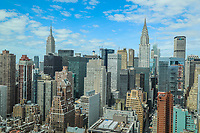 NOVA YORK, EUA, 24.04.2018 - TURISMO-EUA - Vista do Chrysler Building (D) e do Empire State na ilha da Manhattan na cidade de Nova York nos Estados Unidos nesta terça-feira, 24. (Foto: William Volcov/Brazil Photo Press)