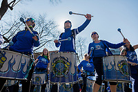 NEW YORK, NEW YORK - MARCH 8: A women's musical band playsduring the women's strike in Washington Sq Park for Women's Day on March 8, 2020. in New York. 3,500 women were killed for gender reasons in 25 countries in Latin America and the Caribbean in 2019. UN said. (Photo by Pablo Monsalve / VIEWpress via Getty Images)