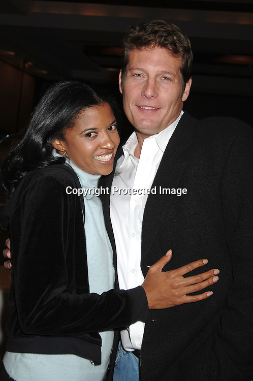 "Renee Goldsberry and Paul Satterfield..at The League For The Hard of Hearing's ""Feast With Famous Faces"" Gala on October 23, 2006 at Pier Sixty. ..Kassie and James DePaiva were the co-chairs. ..Robin Platzer, Twin Images"