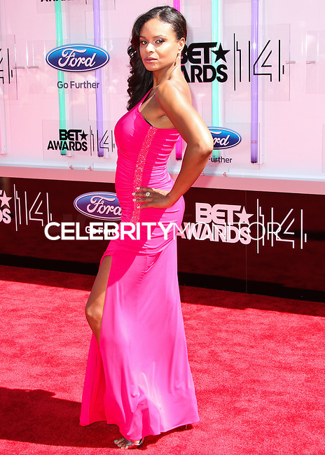 LOS ANGELES, CA, USA - JUNE 29: Actress Joyful Drake arrives at the 2014 BET Awards held at Nokia Theatre L.A. Live on June 29, 2014 in Los Angeles, California, United States. (Photo by Xavier Collin/Celebrity Monitor)