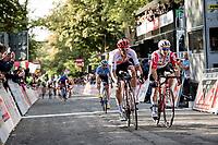 Jasper Stuyven (BEL/Trek-Segafredo) beating Jasper de Buyst (BEL/Lotto-Soudal) in the sprint for 2nd <br /> <br /> 60th Grand Prix de Wallonie 2019<br /> 1 day race from Blegny to Citadelle de Namur (BEL / 206km)<br /> <br /> ©kramon