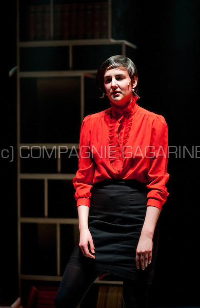 """Theatre company TG Sehnsucht playing """"Lady Macbeth"""", directed by Anneke Buts and Suzanne Vrints in the serie Amateurtoneelhuis in Antwerp (Belgium, 17/04/2014)"""