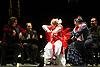 London, UK. 21.02.2018. Legendary flamenco artist La Chana makes a rare appearance at this year's Gala Flamenca with guest artists: Ángel Rojas, Antonio Canales, El Farru, Gema Moneo, 21-23 Feb 2018. Photo shows: El Farru, La Chana, Gema Moneo. Photo - © Foteini Christofilopoulou.