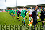 Kerry and Galway before the Under 17 League at Mounthawk park  on Sunday.