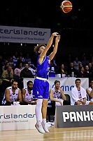 Saints' Finn McClure in action during the NBL - Cigna Saints v Bay Hawks at TSB Bank Arena, Wellington, New Zealand on Friday 12 April 2019. <br /> Photo by Masanori Udagawa. <br /> www.photowellington.photoshelter.com
