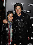 """HOLLYWOOD, CA - MARCH 03: Johnny Whitworth (R) and guest  attend the Los Angeles special screening of """"Limitless"""" at ArcLight Cinemas Cinerama Dome on March 3, 2011 in Hollywood, California."""