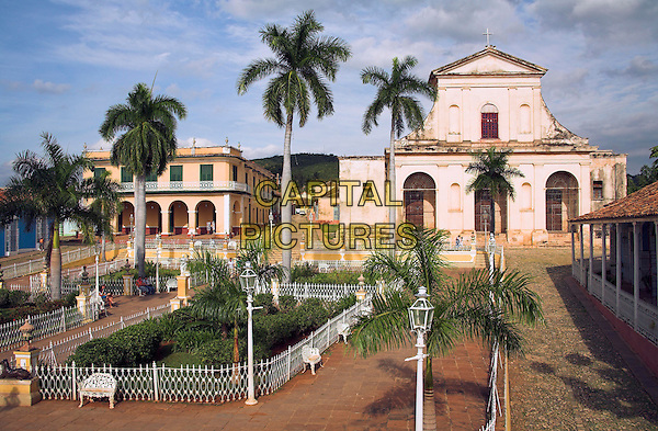 Museo Romantico and Iglesia de Santisima Trinidad, Plaza Mayor, Trinidad, Sancti Spiritus Province, Cuba